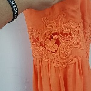Maurices Dresses - Maurice's 5/6 orange high low dress
